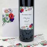 Etiketa na svatební víno 0,7l - anemone folklor