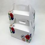 Krabička na výslužku s ouškem malá - anemone folklor
