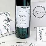 Etiketa na svatební víno 0,7l - rozmarýn