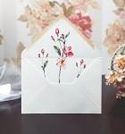 Obálka barevná  - světle krémová  - vnitřní potisk -květiny
