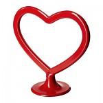 Stojánek na foto plastový červený - srdce