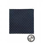kapesníček pánský do saka puntík - navy bavlna