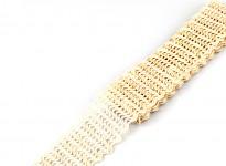 Jutová stuha pletená 4 cm/ 2 m - vlnky - hnědá