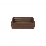 Bedýnka dřevěná hnědá - střední - 25cm
