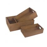 Bedýnka dřevěná hnědá - výřez srdíčko - 21 cm