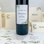 Etiketa na svatební víno 0,7l - poupata