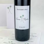 Etiketa na svatební víno 0,7l - květy česneku