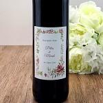 Etiketa na svatební víno 0,7l - rámeček z růží