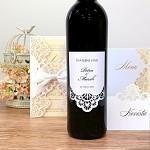 Etiketa na svatební víno 0,7l - bílá krajka