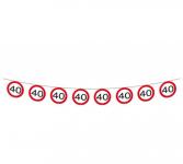 Girlanda papírová - dopravní značka - 40