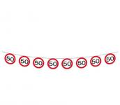 Girlanda papírová - dopravní značka - 50