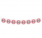 Girlanda papírová - dopravní značka - 60