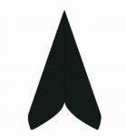 Ubrousek 40x40 cm - Airlaid černý - 1ks