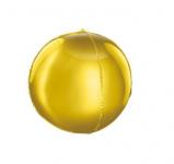 Foliový balónek kulatý 3D - zlatý
