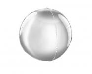 Foliový balónek kulatý 3D - stříbrný