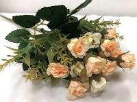 Trsové růžičky mini - krémovo- lososové