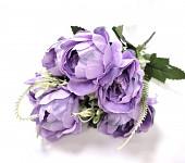 Umělá kytice - rannunculus žluto-oranžový mini