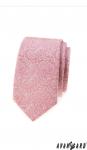 Kravata pánská LUX - pudrová se vzorem tmavá