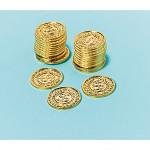 Mince pirátské - zlaté -36ks