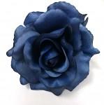 Hlavičky růží - tm.modré - 10cm