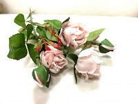 Girlanda růže- bílá- 180cm