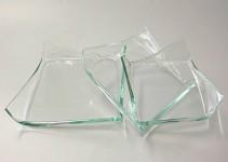 Podtácek skleněný - atyp - čirý