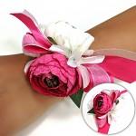 Náramek pro tým nevěsty (rozlučku se svobodou) - malinový