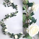 Girlanda růže- krémová - 180 cm