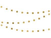 Girlanda hvězdičky zlaté - 3,6 m