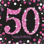 Ubrousky černo-růžové - 50. narozeniny