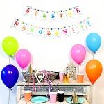 Girlanda papírové vlaječky - šťastné narozeniny