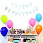 Girlanda modré vlaječky - krásné narozeniny