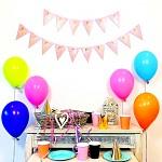 Girlanda růžové vlaječky 14 x 150 cm - krásné narozeniny