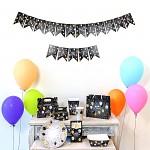 Girlanda černé vlaječky - narozeninová party