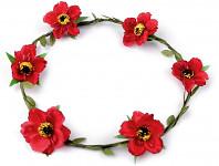 Věneček s červenými květy