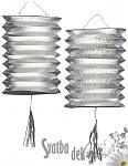 Lampion stříbrný - 2ks