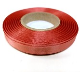 Saténová stuha oboulící - rosegold - 10 mm/1 m