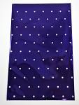 Celofánový sáček - modro-bílý s kytičkami - 15x 30 cm