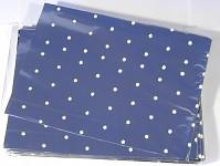 Celofánový sáček - stříbrno-bílý s kytičkami - 30 x 40 cm