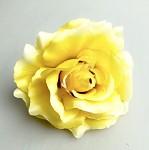 Hlavičky růží - žluté - 10cm