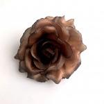 Hlavičky růží - hnědé - 10cm