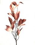 Podzimní větvička 80cm - oranžovo-červené listy