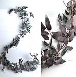 Girlanda ruscus - podzimní -zeleno-vínová - 160 cm
