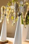 Anděl plechový svítící - bílo-stříbrný - 54 cm