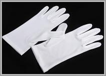 Pánské rukavice do tanečních - bílé bavlněné - XL