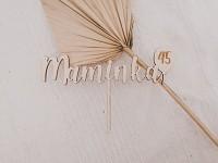 Dřevěný zápich do dortu - Maminka 45