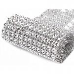 Diamantový pás - 12cm/1m - stříbrný