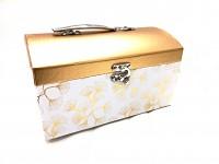 Dárkový (květinový) box - kulatý krém 21 cm