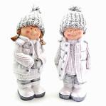 Děti zimy hnědé s hvězdou - 15 cm