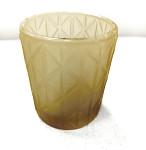 Svícen zlatý s diamanty - 85 mm